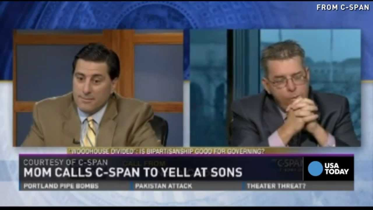 'Oh God, it's Mom': Sons get surprise call on C-SPAN