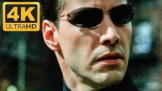 Нео против Агентов Смитов. Матрица: Перезагрузка (2003) [4K Ultra HD]