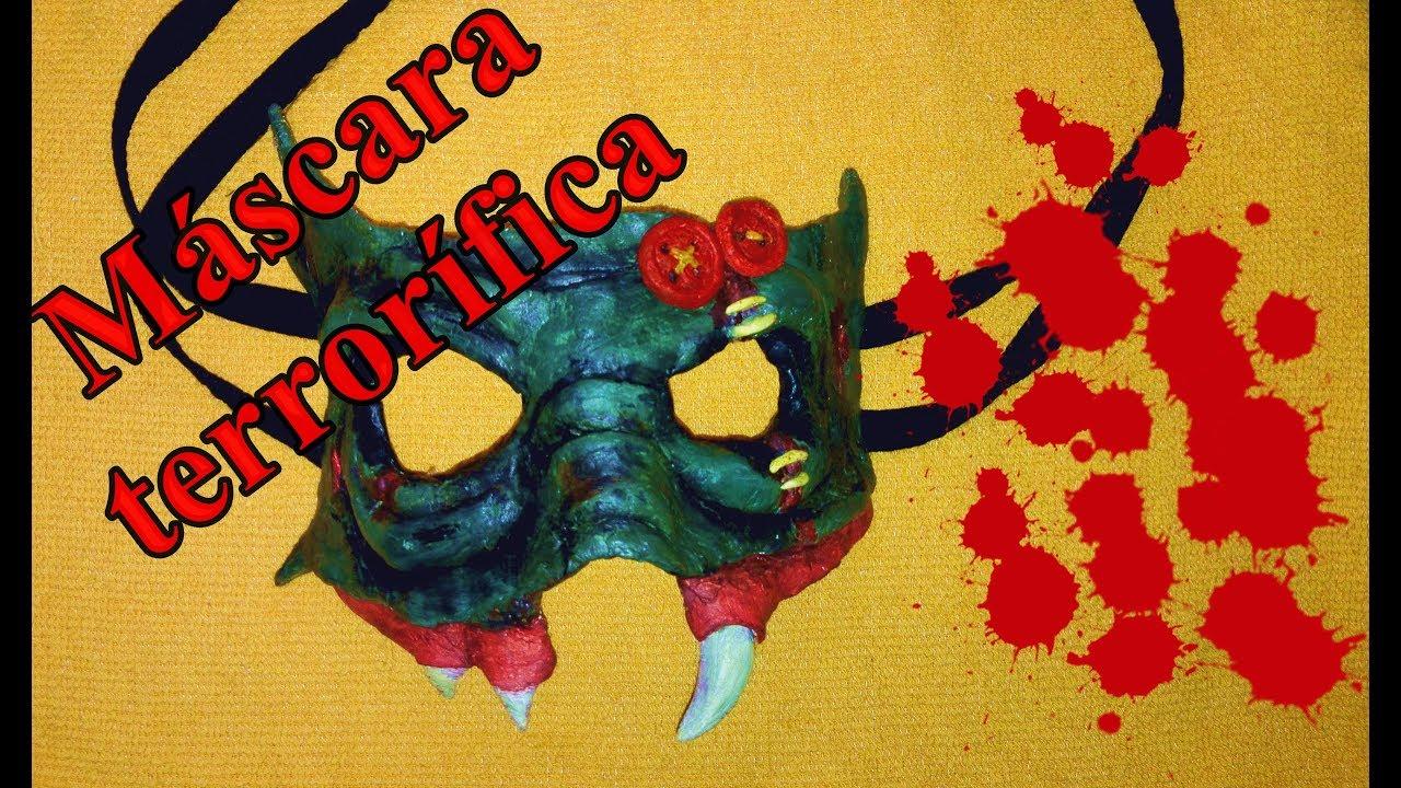 C mo hacer una m scara de terror para halloween youtube - Mascaras de terror ...