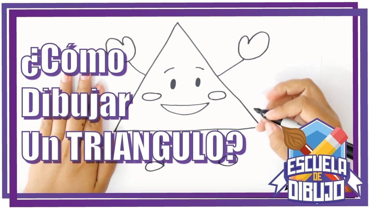 Como Dibujar Un Triangulo Dibujar Triangulo Paso A Paso Youtube