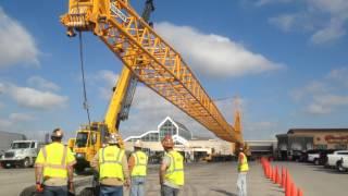 Davis Crane LTM 1500 raising jib