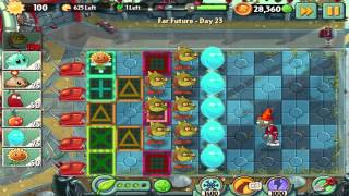 Plants vs Zombies 2: Far Future Day 23 Walkthrough