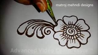 easy simple beautiful mehndi designs for full hands tutorials:Matroj Mehndi Designs