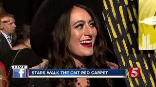 Country Stars Walk CMT Awards Gray Carpet