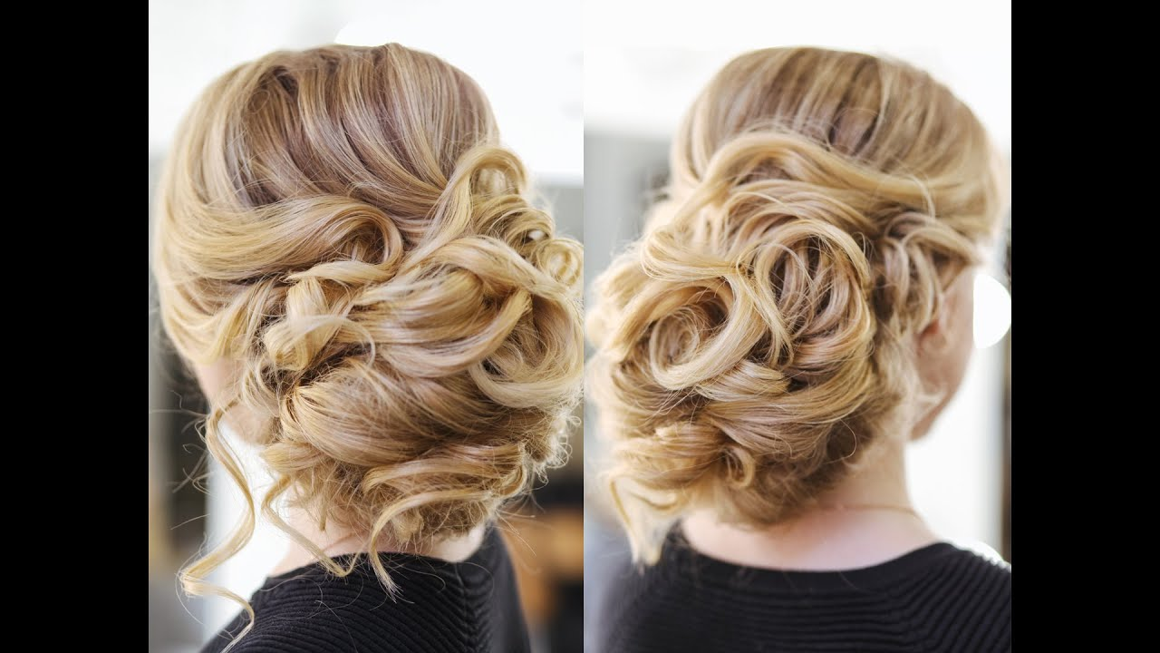 Hair Style Up For Wedding: Easy Wedding Updo With Curls Prom Hairstyles Hair Tutorial