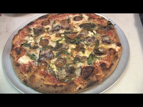 Mediterranean style pizza recipe from Daddy Jack's New London CT