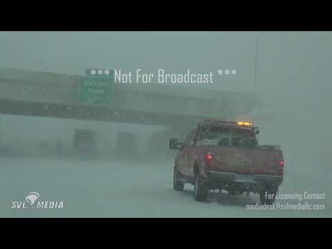 Sioux Falls, South Dakota - Blizzard Making Travel Nearly Impossible - 04/14/2018