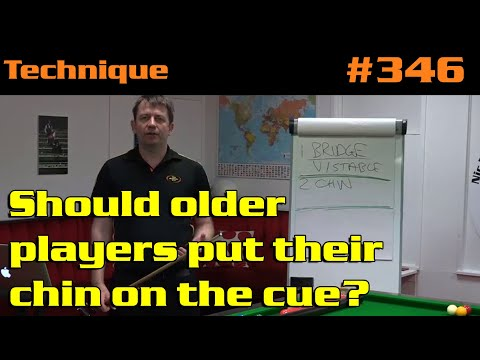Should Older Players Put Their Chin On The Cue?