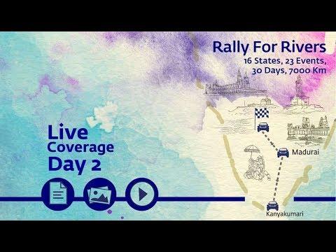 Rally for Rivers Day 2 - Kanyakumari