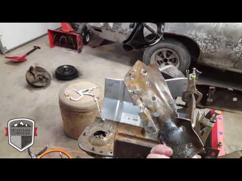 1971 buick skylark core support rust repair!