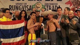 FULL SRISAKET SOR RUNGVISAI VS JUAN FRANCISCO GALLO ESTRADA WEIGH INS & FACE OFF