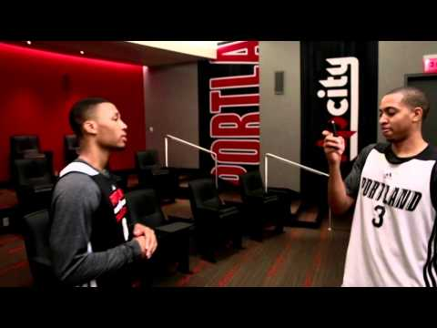 Damian Lillard Makes His NBA Playoff Debut on NBA Inside Stuff