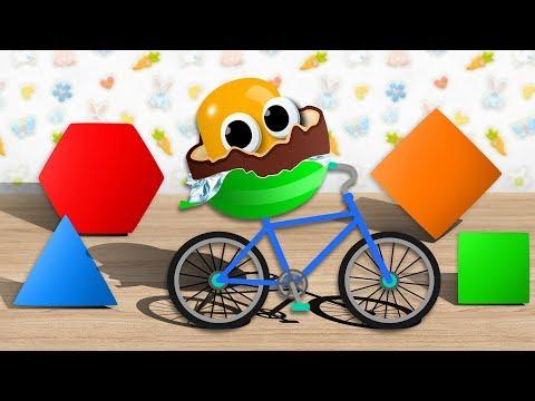 Видео для детей. Киндер на Велосипеде открывает игрушки Барбоскины, игрушки Щенячий Патруль