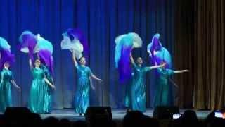 """Музыка ветра...танец с веерами-вейлами.....Эстрадно-музыкальный театр """"МЫ"""",режиссер Жукова М.А."""