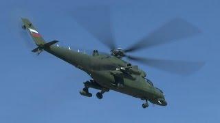 Вертолеты Ми-35МС взлетают с Кремлевской площадки(Первым делом вертолеты !, 2015-05-07T21:36:18.000Z)