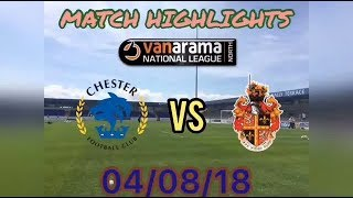 CHESTER FC 0-0 SPENNYMOOR TOWN MATCH HIGHLIGHTS: VANARAMA NATIONAL LEAGUE NORTH: 04/08/18