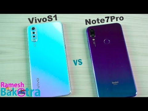 Vivo S1 vs Redmi Note 7 Pro SpeedTest and Camera Comparison