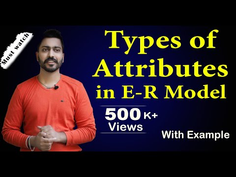 Lec-15: Types of Attributes in ER Model | Full Concept | DBMS in Hindi