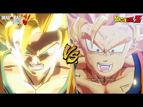 DB Xenoverse VS DBZ: Kakarot - Goku goes SSJ3 For the first time Cutscene Comparison!
