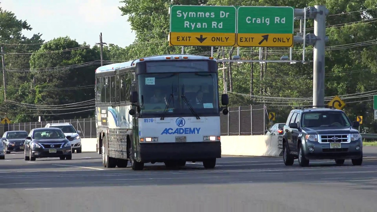 Nj Transit Academy Bus On Route 9 Mci D4000 Bus 8576