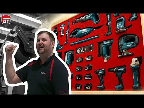 Makita Power Tool Wall! - INSANE Workshop Storage Idea