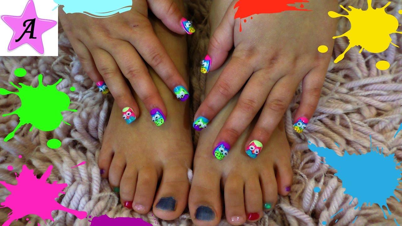 Как сделать детям длинные ногти фото 779
