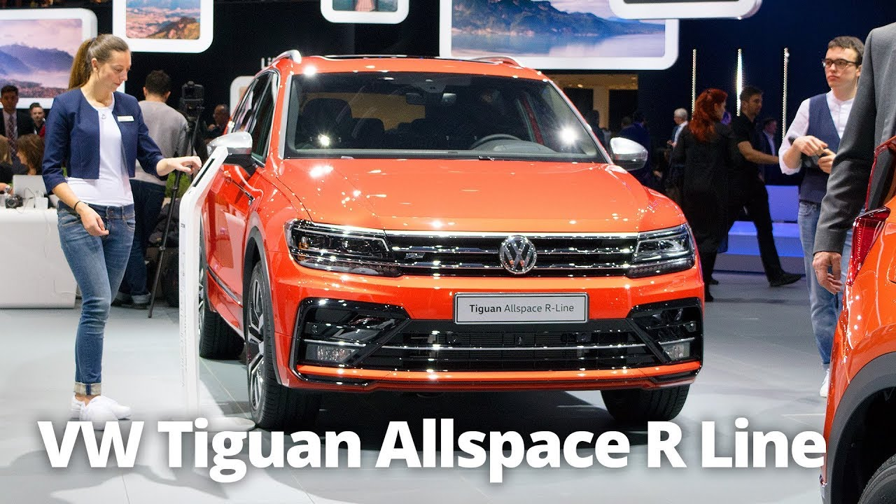 2018 vw tiguan allspace r line 7 seater walkaround. Black Bedroom Furniture Sets. Home Design Ideas