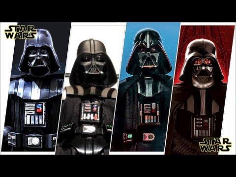 Darth Vader Anakin Skywalker Evolution in Movies, Cartoons & TV