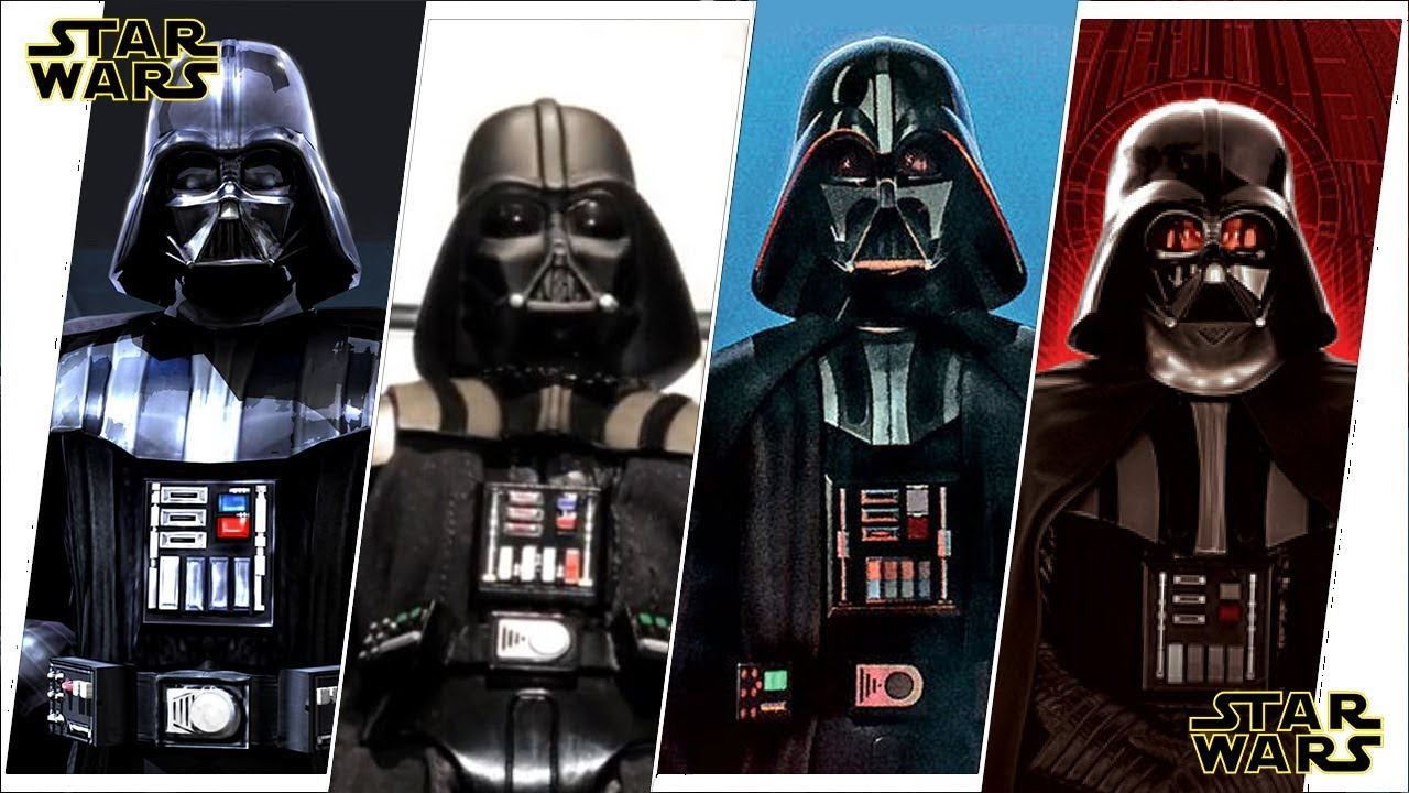 30b0e969e297dc Darth Vader (Anakin Skywalker) Evolution in Movies, Cartoons & TV ...