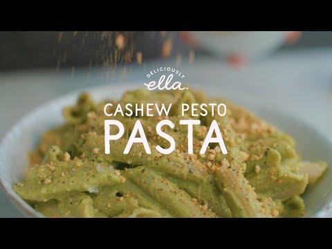 Cashew & Avocado Pesto Pasta | Deliciously Ella | Vegan
