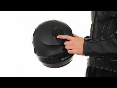 ST-1150 Hawk Matte Black Full Face Motorcycle Helmet At LeatherUp.com