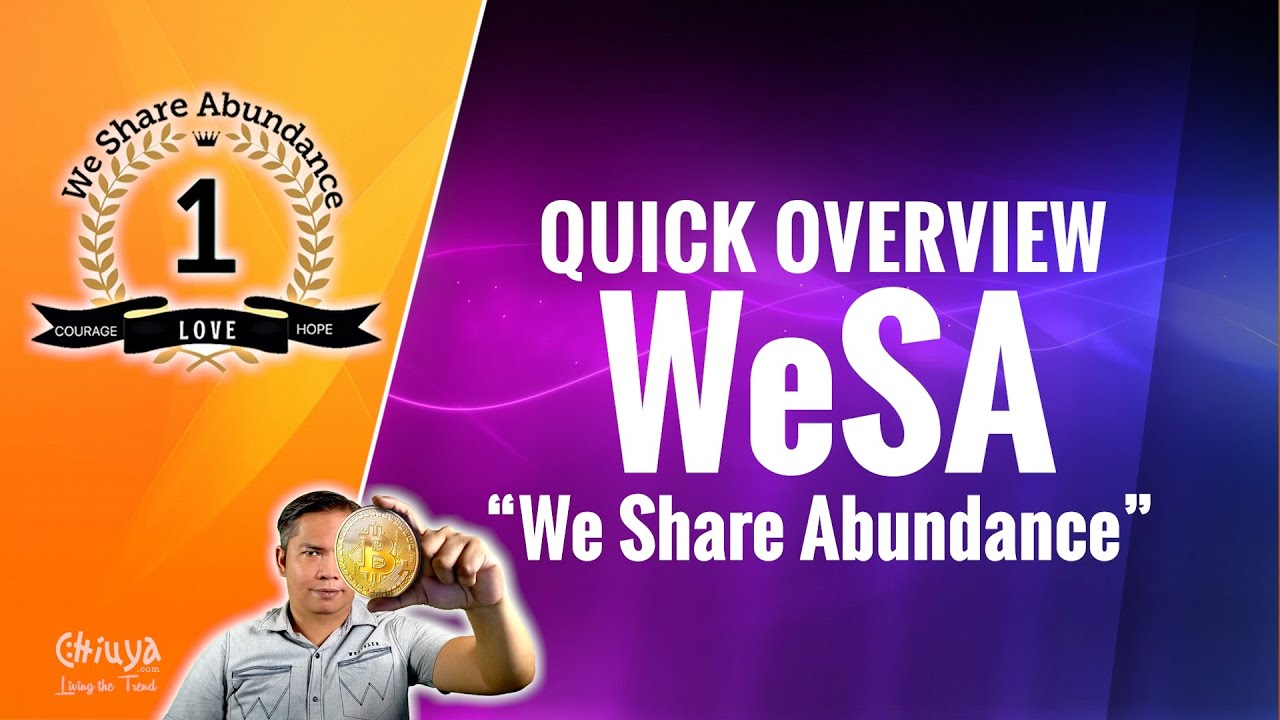 Quick Overview to We Share Abundance (WSA)
