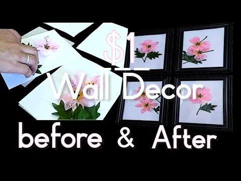 DIY Wall art decor idea | Dollar Tree wall decor | Fil-Am family vlog