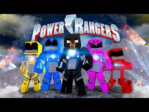 Minecraft POWER RANGERS - TRAINING TO BE A SUPERHERO POWER RANGER!!
