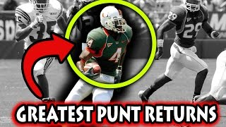 Greatest Punt Returns in Football History