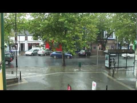 Swords rain at the Plaza Dublin Ireland