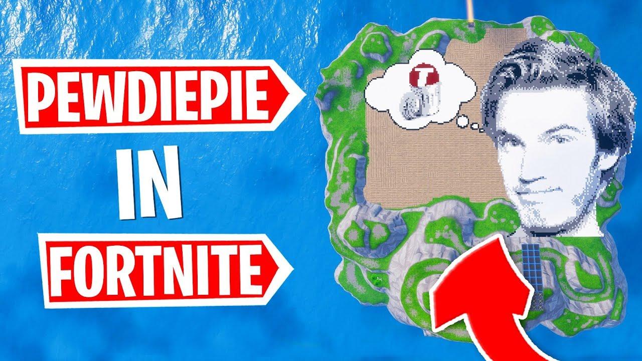 BUILDING PEWDIEPIE PIXEL ART (Fortnite Creative Mode)