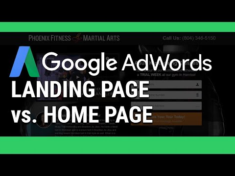 google-adwords-landing-page-vs.-home-page