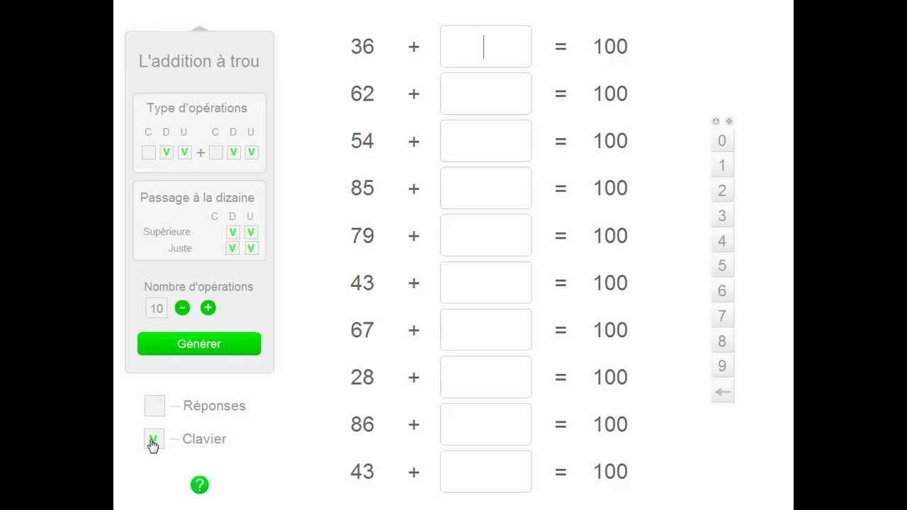 2 applications pour travailler l 39 addition en calcul mental youtube. Black Bedroom Furniture Sets. Home Design Ideas