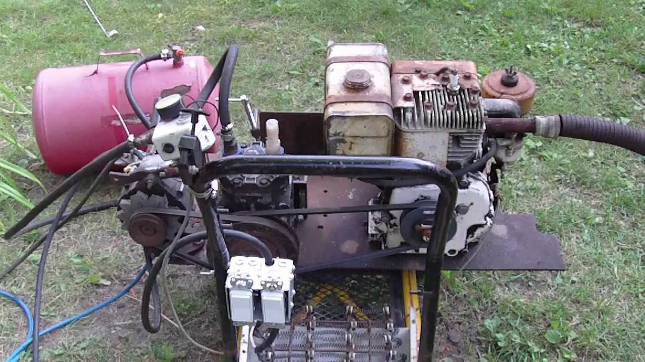 Homemade Air Compressor Generator Arc Welder Youtube
