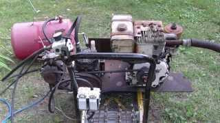 Homemade Air compressor, Generator, Arc welder