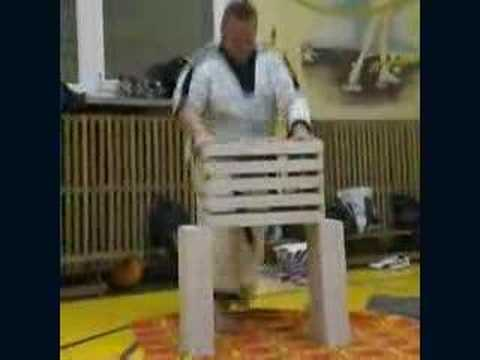 Taekwondo breaking concrete by head (5 blocks) - YouTube