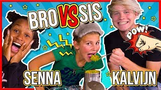 KALVIJN & SENNA in BRO VS SIS CHALLENGE ft. Kymora + GIVEAWAY