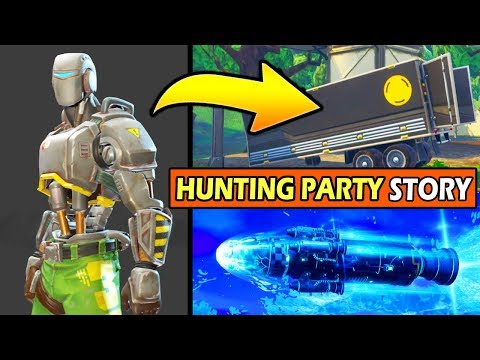 Who Is The HUNTING PARTY SKIN! (A.M.I SKIN) *EXPLAINED* FORTNITE SEASON 6 STORYLINE!