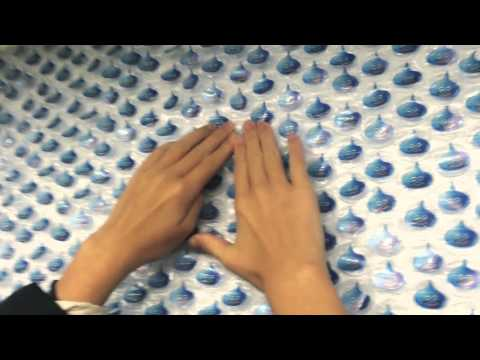 Giant Bubble Wrap Ad in Tokyo