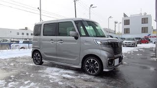2017/2018 New SUZUKI SPACIA CUSTOM HYBRID Turbo 4WD - Exterior & Interior