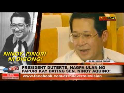 PRESIDENT DUTERTE, NAGPA ULAN NG PAPURI KAY DATING SEN  NINOY AQUINO!
