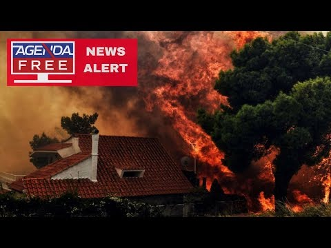 20 Dead in Fires Near Athens, Greece - LIVE COVERAGE