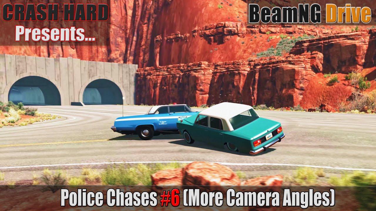 BeamNG Drive - Police Chases #6 More Camera Angles