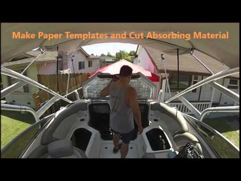 Installing Sound Absorbing Material In My Boat S Engine
